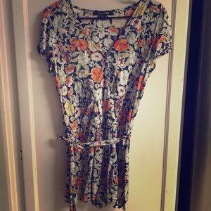 Forever 21 Floral Pattern Blouse Dress M